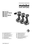 página del Metabo SB18LT 5.2 1