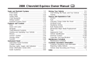 Pagina 1 del Chevrolet Equinox (2008)