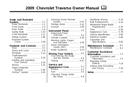 Pagina 1 del Chevrolet Traverse (2009)