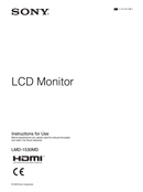 Sony LMD-1530MD page 1