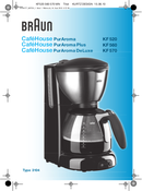 Braun CaféHouse PurAroma KF 520/1 pagina 1
