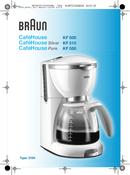 Braun CafeHouse KF 550  pagina 1