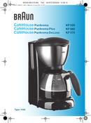 Braun CaféHouse PurAroma Deluxe KF 570/1 pagina 1