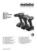 Metabo BS 18 Quick Set sayfa 1