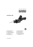 Página 1 do Metabo Powermaxx ASE 10,8