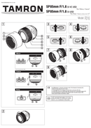Pagina 1 del Tamron SP 85mm F/1.8 Di VC USD f/ Canon