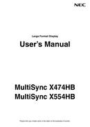 Página 1 do NEC MultiSync X554HB