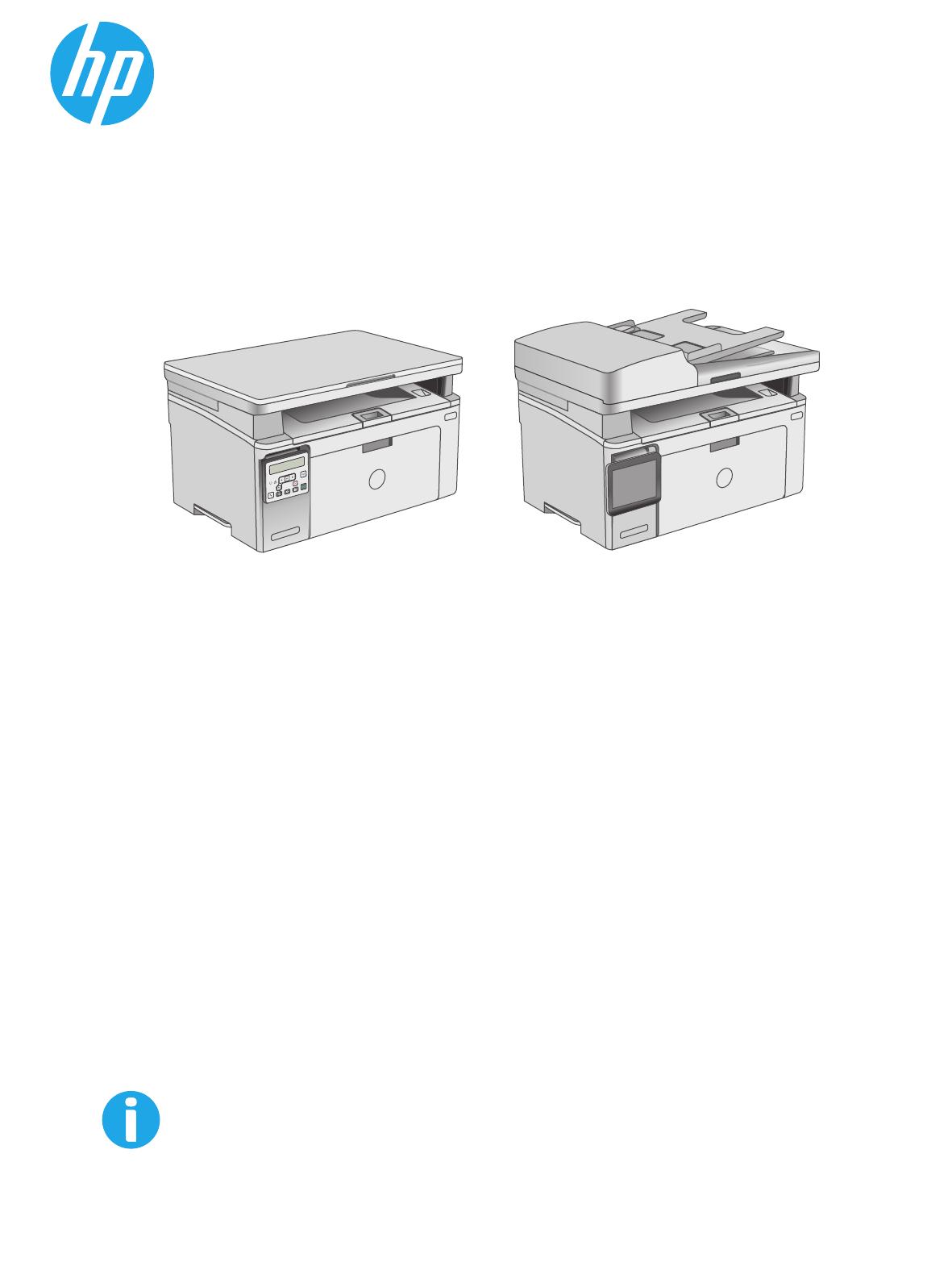 HP LaserJet Pro MFP M130a manual