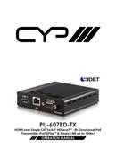 CYP PU-607BD-TX pagina 1