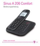 T-Mobile Sinus A 206 Comfort pagina 1