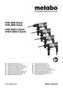 Metabo UHE 2660-2 sayfa 1