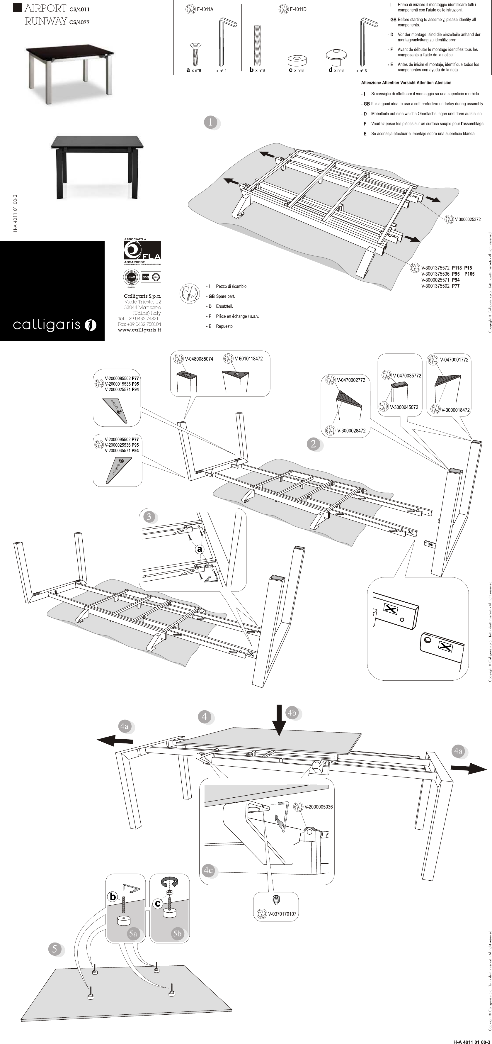 Airport One Calligaris.Calligaris Com Airport One Manual