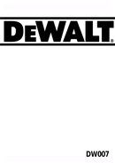 Página 1 do DeWalt DW007K