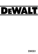 DeWalt DW351 page 1