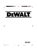 Página 1 do DeWalt DW383
