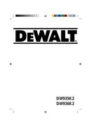DeWalt DW936 page 1