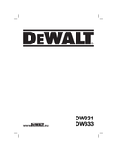 Página 1 do DeWalt DW331