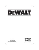 DeWalt DW333 page 1
