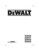 DeWalt D26420 side 1