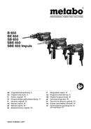 Metabo SBE 650 Seite 1
