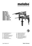 Metabo SBE 780-2 sayfa 1