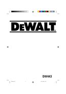 DeWalt DW443 page 1