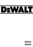 Página 1 do DeWalt DW636