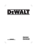 DeWalt DW650 page 1