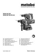 página del Metabo KHA 36-18 LTX 32 1