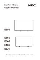 NEC MultiSync E436 pagină 1