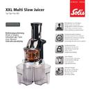 Solis XXL Multi Slow Juicer 921.65 pagina 1