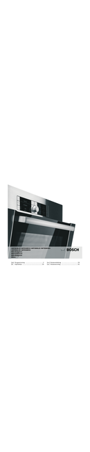 Bosch HMT85ML63 sivu 1