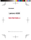 Lenovo Ideaphone A536 sivu 1