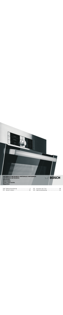 Bosch HMT85MR63 pagina 1