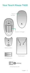 Logitech Touch Mouse T620 sivu 3