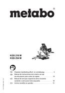 página del Metabo KGS 216 M 1