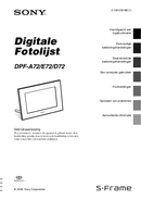 Sony DPF-A72 page 1