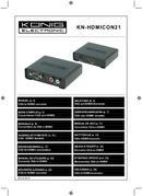 Konig VGA/HDMI-converter side 1