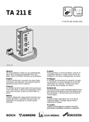 página del Bosch TA 211 E 1