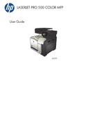 HP LaserJet Pro 500 Color MFP M570DN side 1
