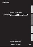 Yamaha PSR-E433 pagină 1