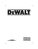 DeWalt DWE550 page 1