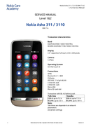 Nokia Asha 311 Sandy pagina 1