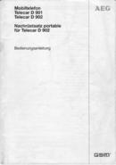 AEG Telecar D 901 sivu 1