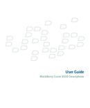 Pagina 1 del BlackBerry Curve 8330
