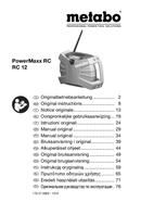 Metabo PowerMaxx RC 12 sayfa 1
