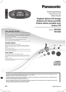 Panasonic RX-D50 page 1