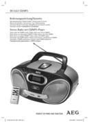 AEG SR 4322 CD/MP3 page 1