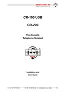 página del Beyertone CR-100 USB 1