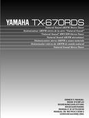 Yamaha TX-670RDS sivu 1